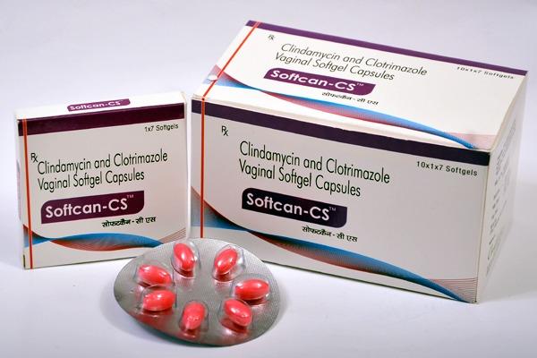 Clindamycin 250mg + Clotrimazole 100mg Vaginal Softgel Capsules